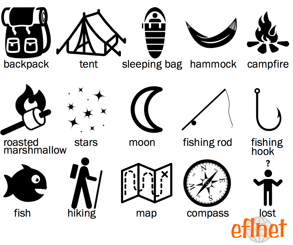 Camping - Picture Vocabulary Worksheets | EFLnet