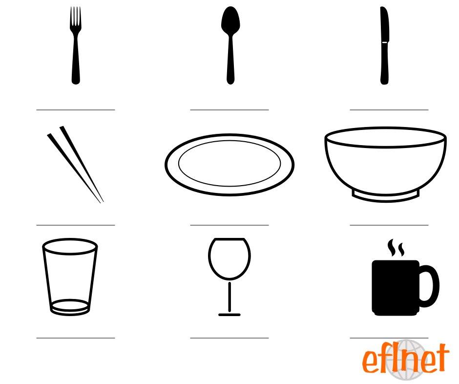 Tableware - Worksheets | EFLnet