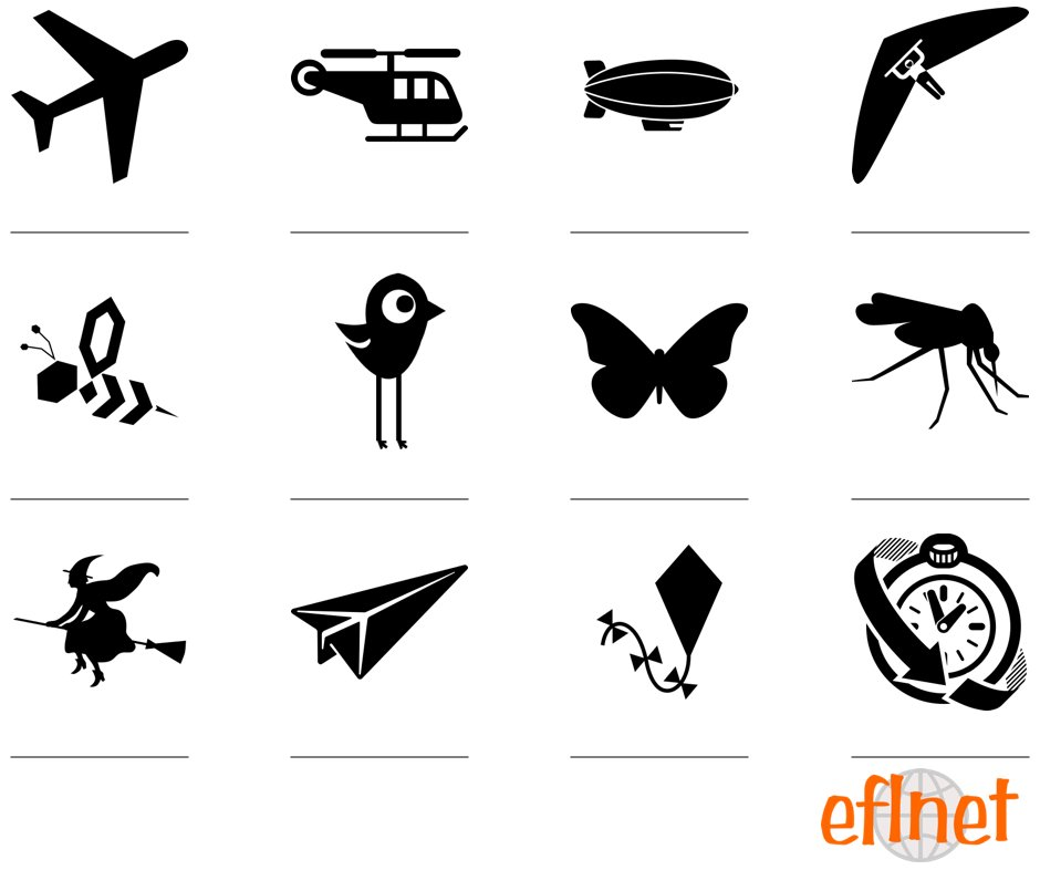 Things That Fly - Worksheets | EFLnet
