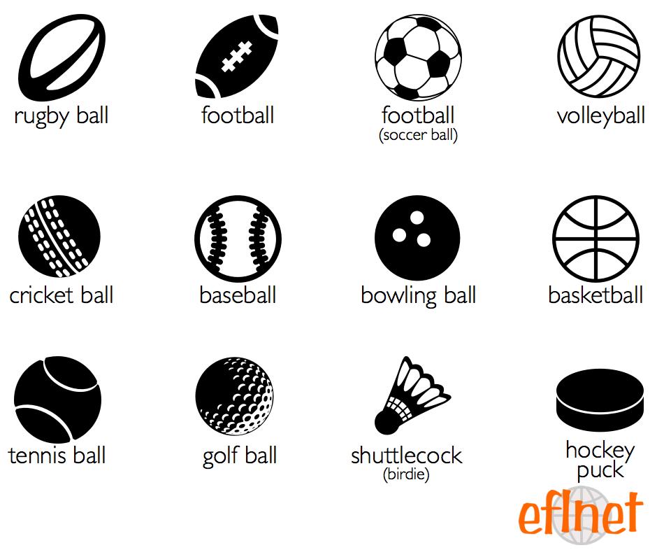 Sports Balls Worksheets Eflnet