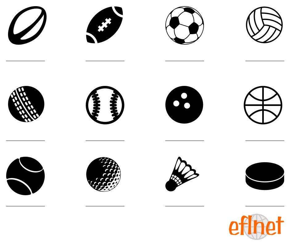sports balls worksheets eflnet. Black Bedroom Furniture Sets. Home Design Ideas