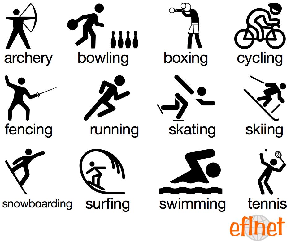individual sports vocabulary worksheets eflnet. Black Bedroom Furniture Sets. Home Design Ideas