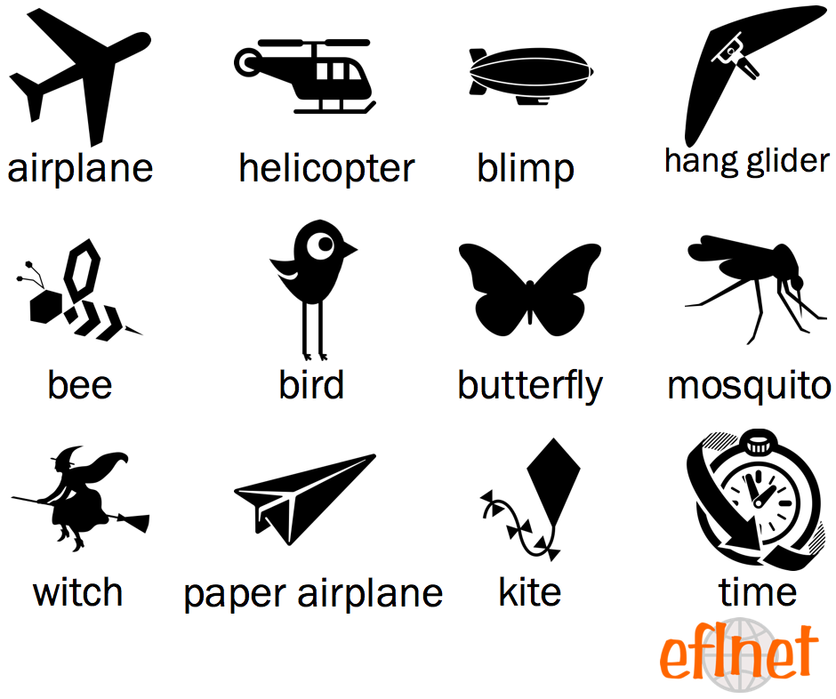 Things That Fly Worksheets Eflnet